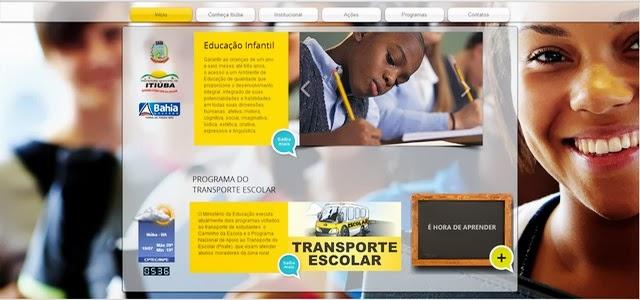 SITE DA SECRETARIA MUNICIPAL DE EDUCAÇÃO DE ITIÚBA