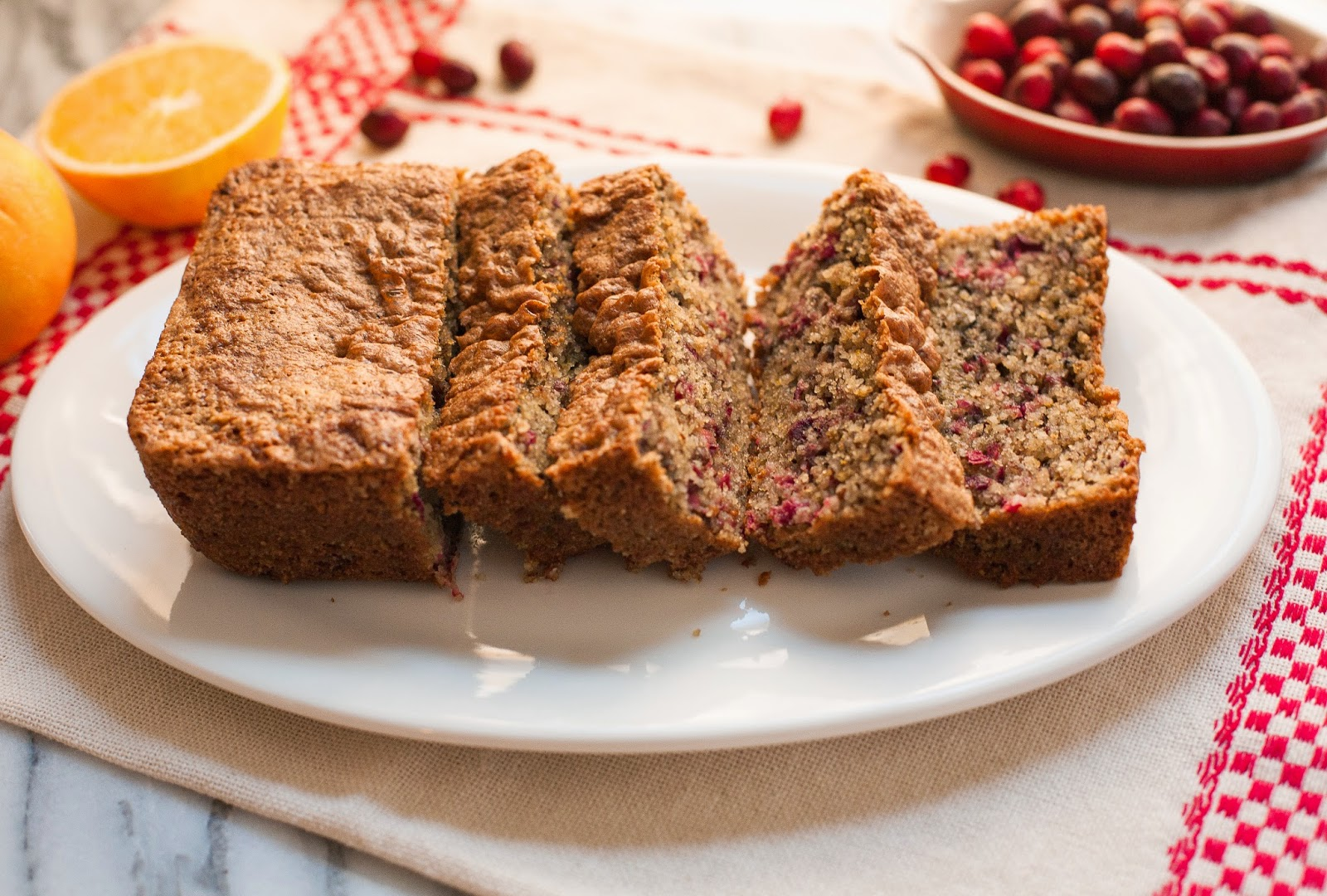 Grain-free Cranberry Orange Bread