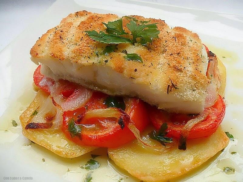 Con sabor a canela bacalao con costra - Bacalao fresco con tomate ...