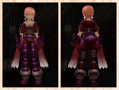 プレートアーマー軽量化紫1+茶2+赤3
