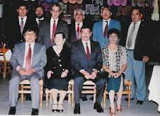 Comida en Coyoacan, 1996. Festejan entrega del Premio Nacional de Ciencia
