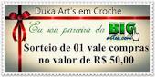 Sorteio 200 seguidores blog Duka Art's em crochê