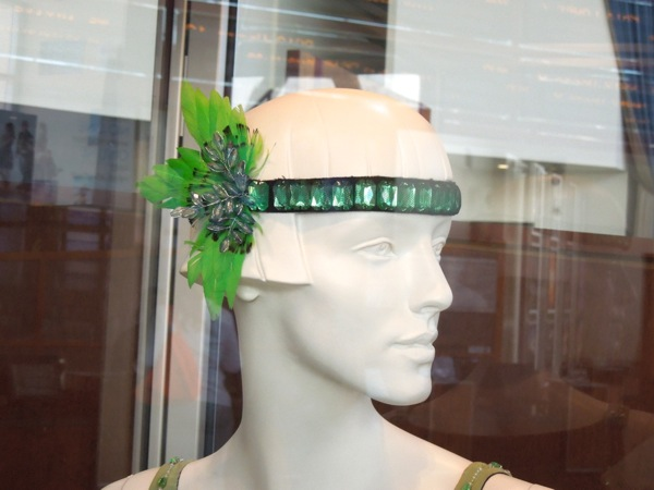 Green costume headpiece Great Gatsby