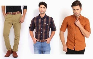 Great Discount Offer @ Myntra: Flat 50% Off + Extra 30% Off on Men's Casual Shirts & Trousers