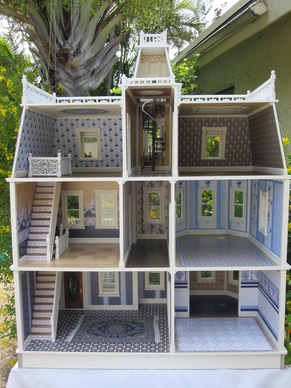 Dollhouses by Robin Carey: The Key West Island Manor Dollhouse