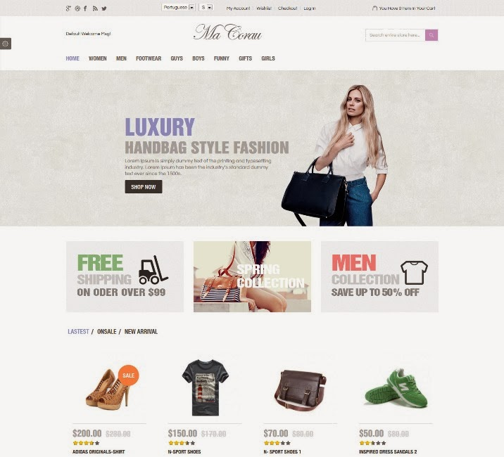 Corau - Fashion Responsive Magento Theme