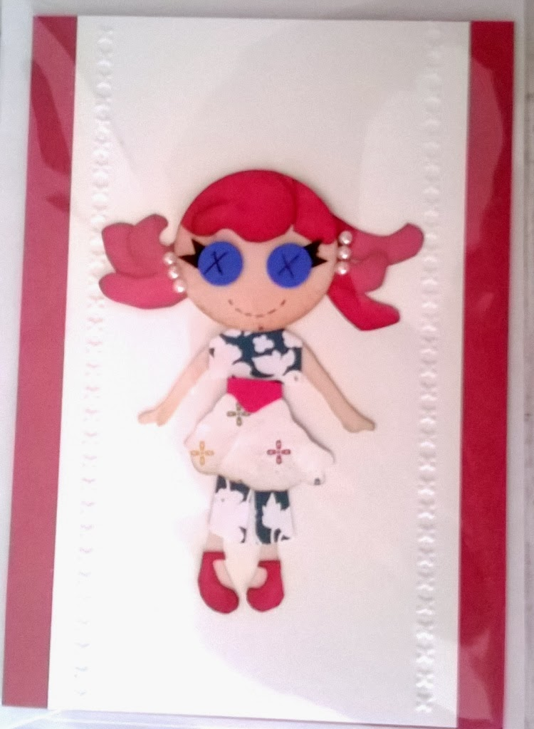 My little gal paper piecing by Zena Kennedy Stampin Up independent demonstrtor