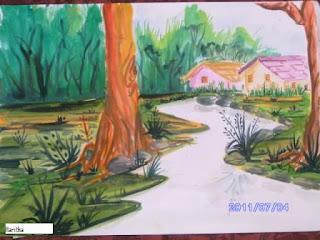 haritha haridas oil painting and pencil drawings