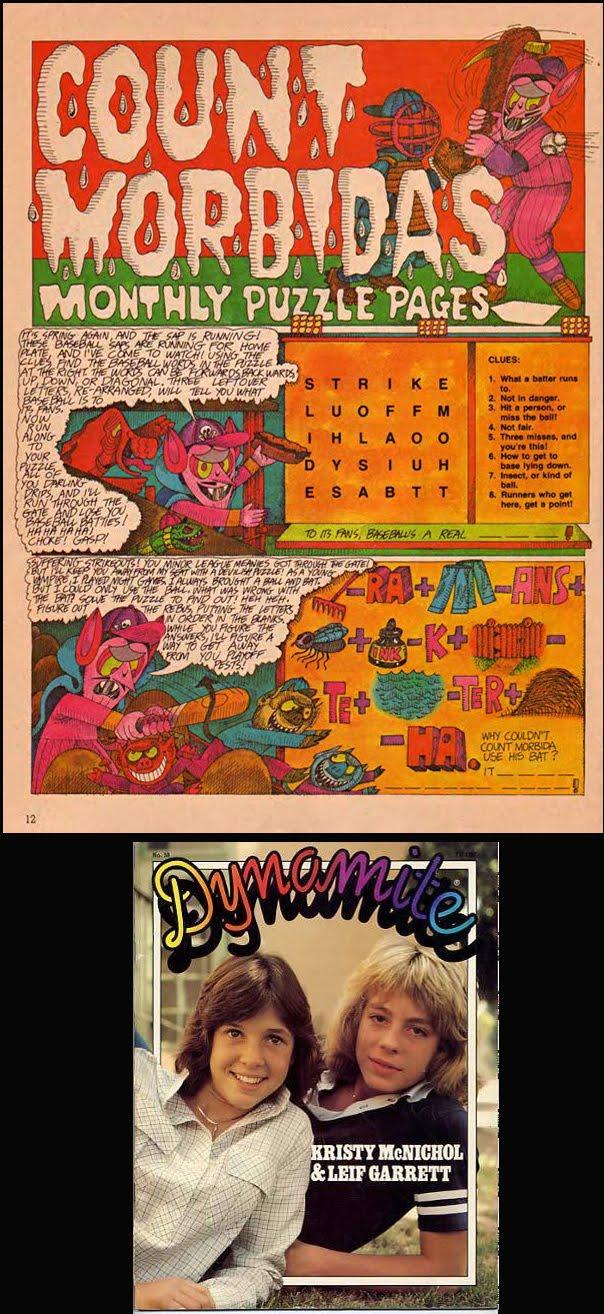 Count Morbida's puzzle page:
