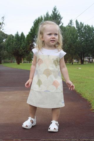 heidiandfinn modern wears for kids: colorblock dress is