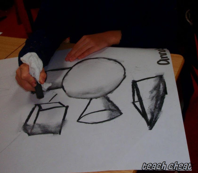 how to draw 3d shapes on paper