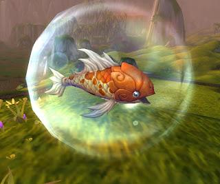 It's Fishy! In his amazing land walker bubble!