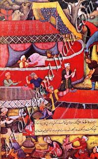Babur Feasting at Kohat