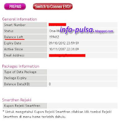 Cara Cek Pulsa SmartFren via Web