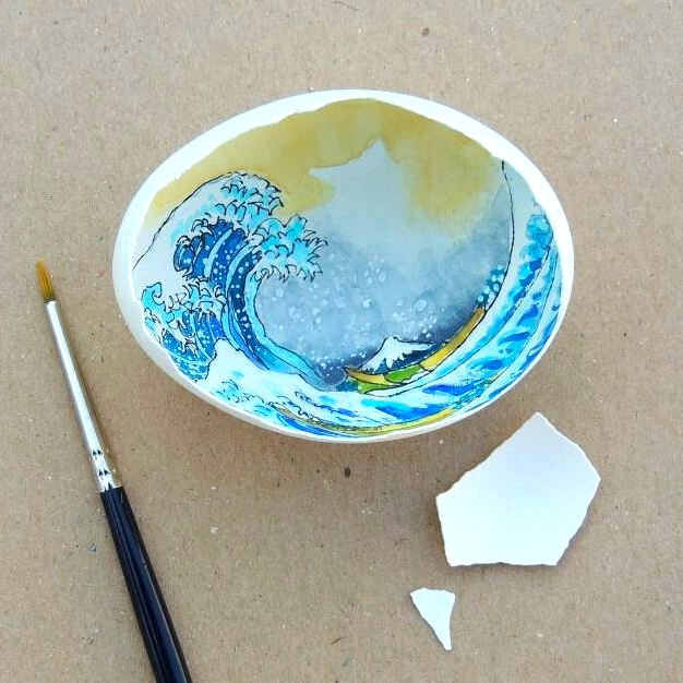 01-The-Great-Wave-off-Kanagawa-Süreyya-Noyan-Architecture-Drawings-Art-Paintings-in-an-Egg-www-designstack-co