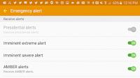 Galaxy S6: désactivation des alertes