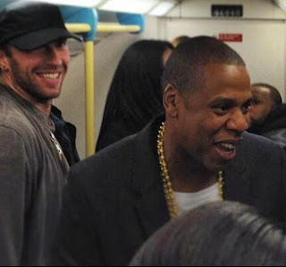 Jay Z, Chris Martin ride