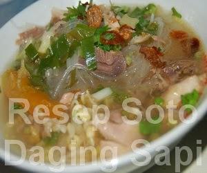Resep Soto Daging Sapi