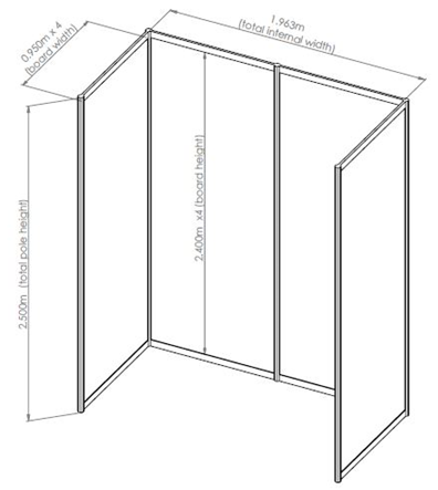 F1 DBS BOOTH DIMENSIONS FOR THE NATIONALS 2014