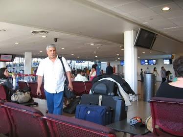 En el aeropuerto de Santiago de Chile