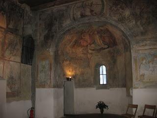 Frescoes inside the Peterskirche, Lindau, Germany