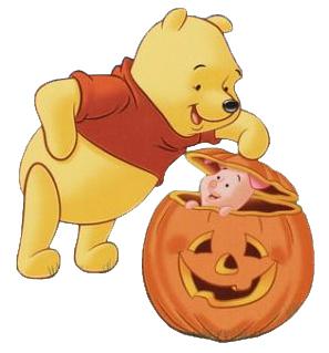 pigglet y winnie the pooh en halloween