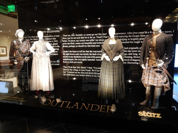 Original Outlander TV costume exhibit