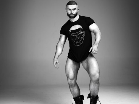 Francois Sagat by Philip Riches wearing KICKSAGAT