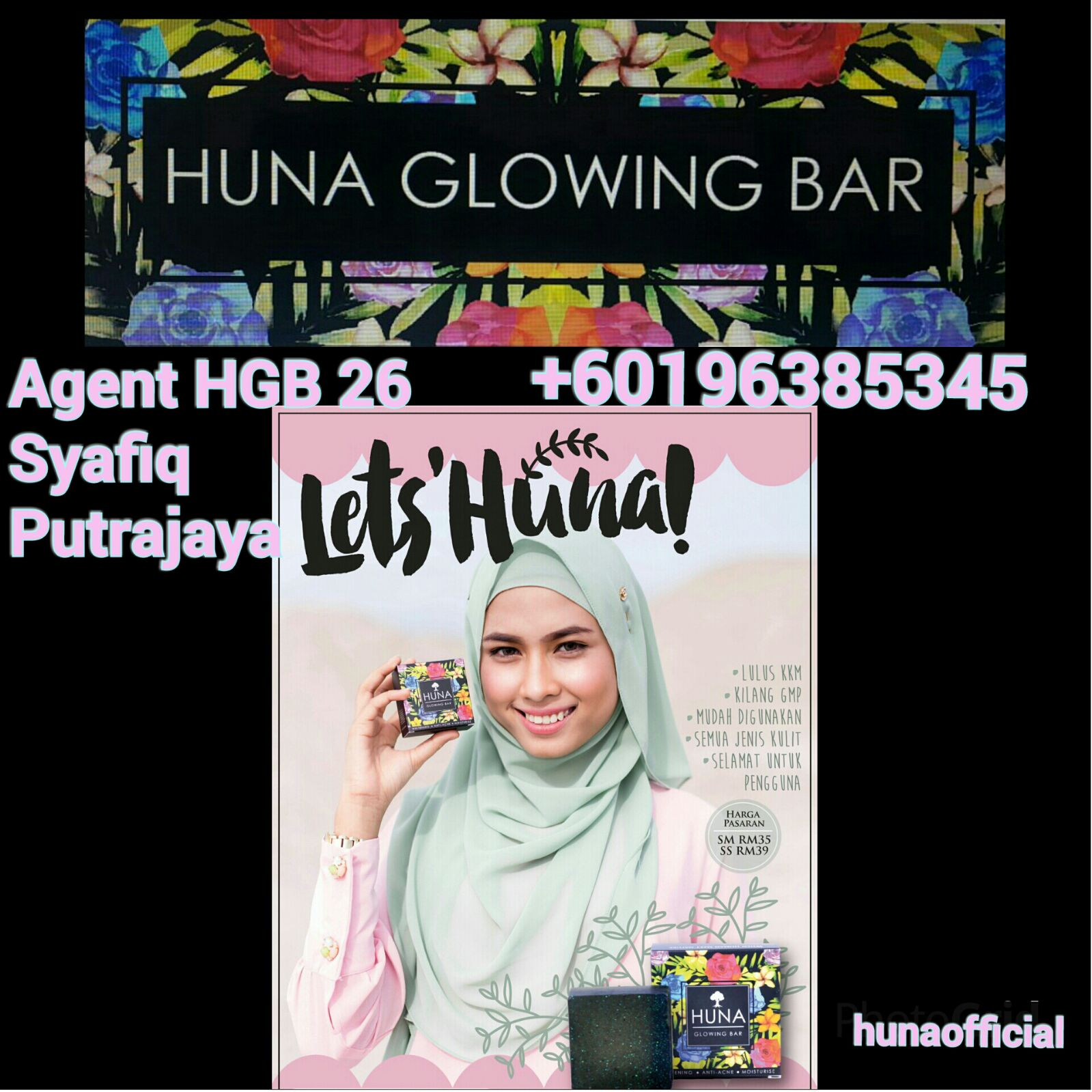 Huna Glowing Bar (Menyelesaikan Masalah Kulit Muka)