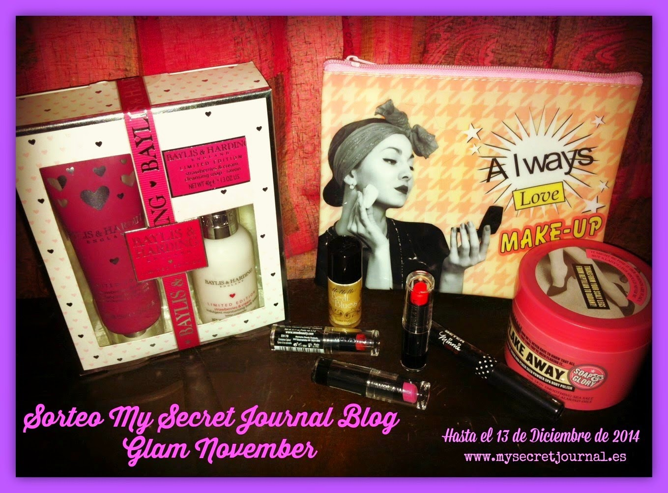 SORTEO EN MY SECRET JOURNAL BLOG