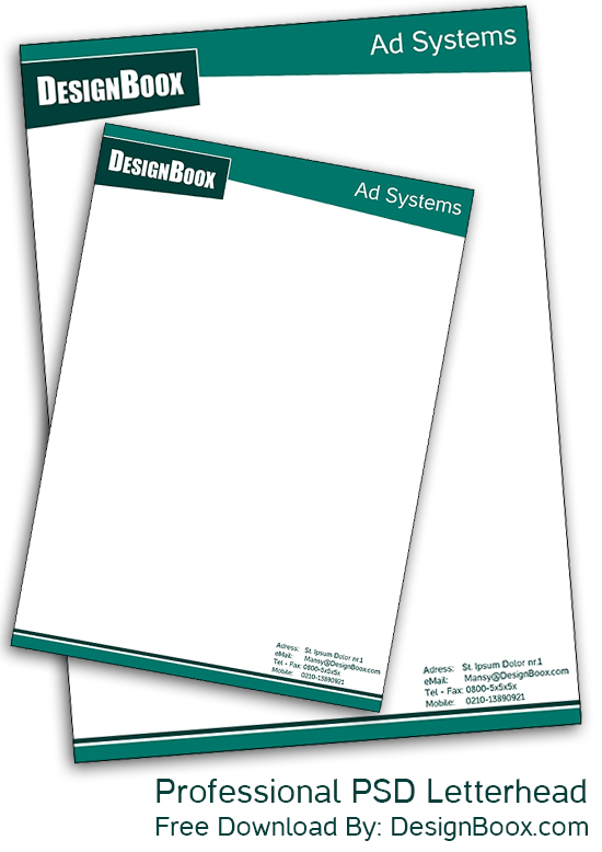 Professional Psd Letterhead Free Download  Designboox
