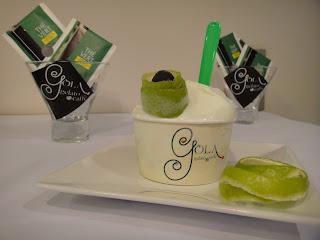 Gelato de chá verde, iogurte, limão, chá verde, Vitamina C, sobremesas geladas, sorvete sem gordura, iogurte desnatados, gelato, alimentação saudável,