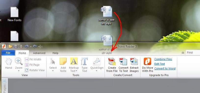creating a hindi pdf file using nitro pdf