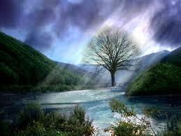 liaht gambar pemandangan yang cantik, hati juga akan menjadi tenang.