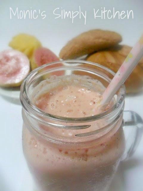 cara membuat smoothie nanas jambu merah