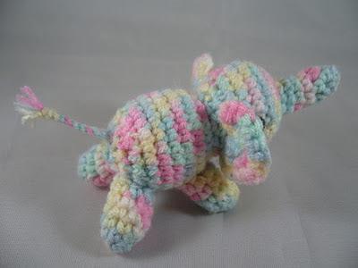 Amigurumi tiny elephant