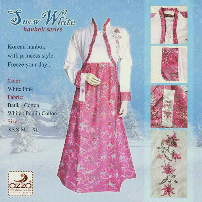 Gamis Hanbok Snowwhite Pink