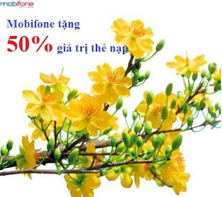 Mobifone khuyến mãi 50% thẻ nạp ngày vàng 05/01/2016