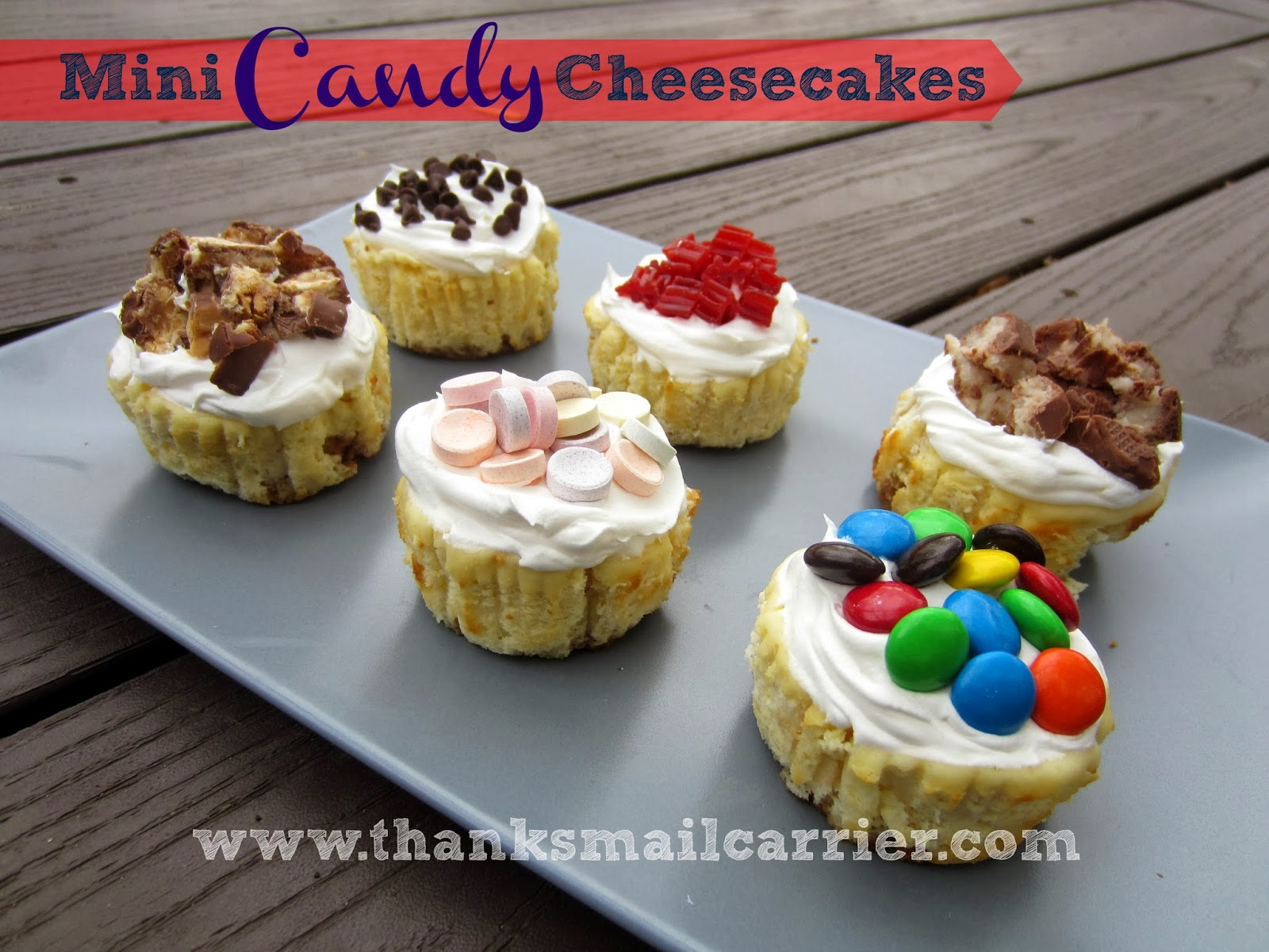 Mini Candy Cheesecakes