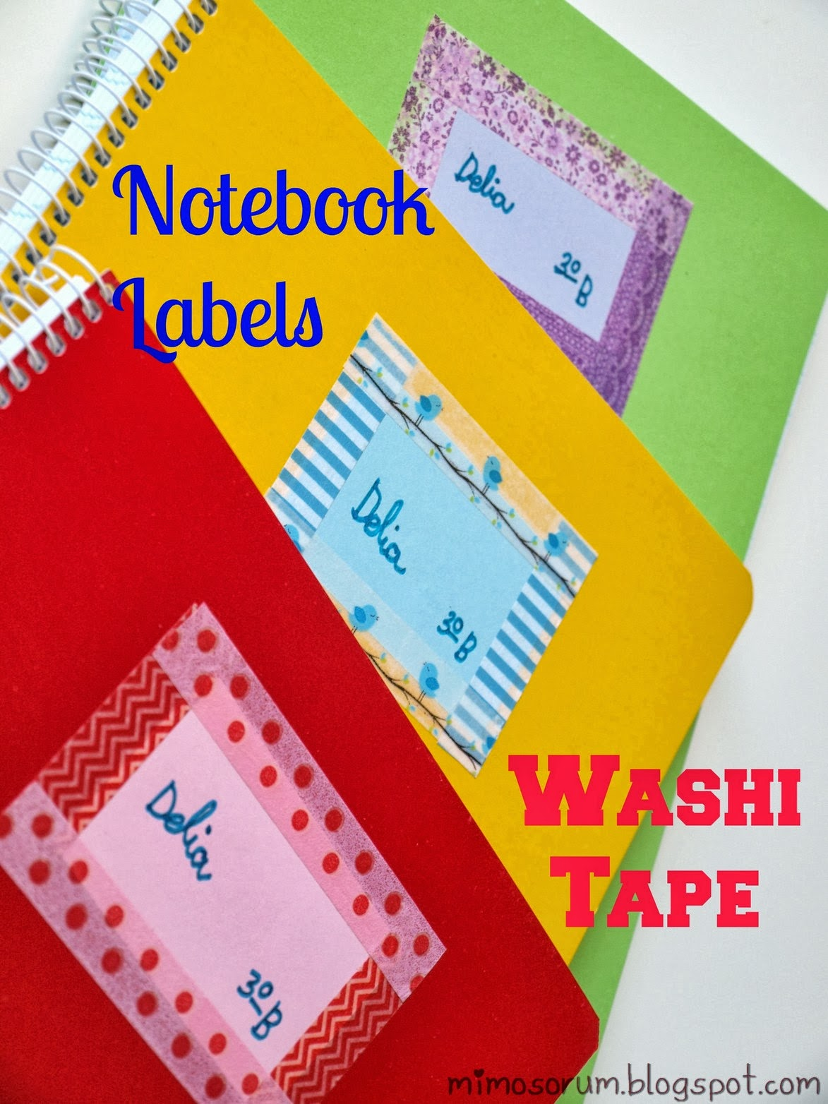 Notebook labels & Washi tape. Mimosorum