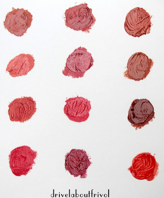 lipstick swatch Lavshuca Dramatic Memory Rouge PK-1 PK-2 PK-3 PK-3 RS-1 RD-1 RD-2 RD-3 OR-1 BR-1 BE-1 BE-2