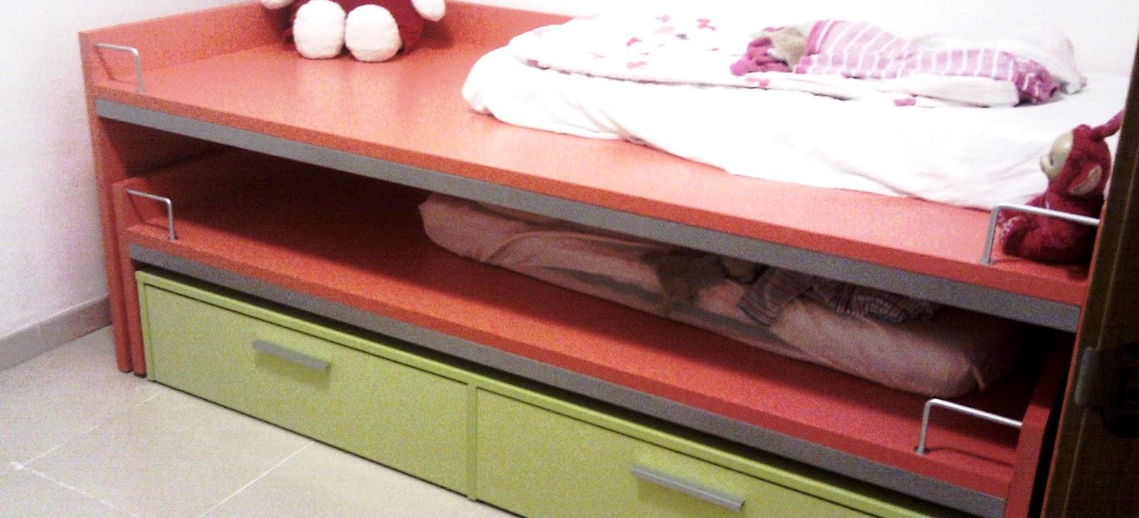 La invasi n twin habitaci n peque a camas grandes - Literas para habitacion pequena ...