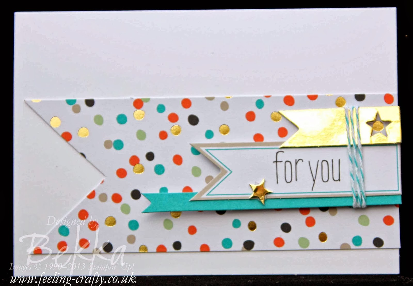 Good as Gold Card made using the free Sale-a-Btation Kit by UK based Stampin' Up! Demonstrator Bekka Prideaux