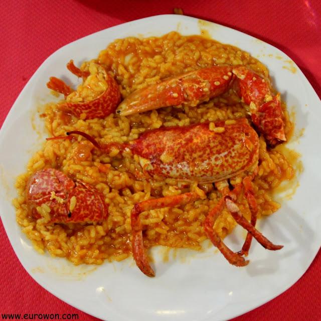 Platazo de arroz con bogavante