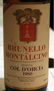 """BRUNELLO Di MONTALCINO """"Col D'Orcia"""" 1980"""