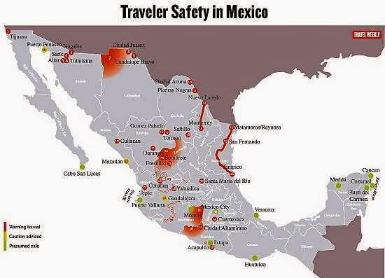 Mexico Travel Advisory Map