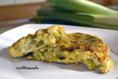 frittata con porri e patate ricetta veloce per un secondo piatto con gusto