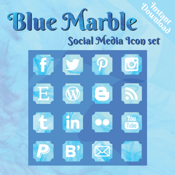 Blue Marble Social Media Icon set by Fezfetti