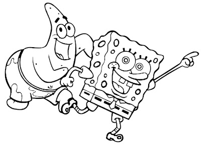 Coloring spongebob-and-patrick