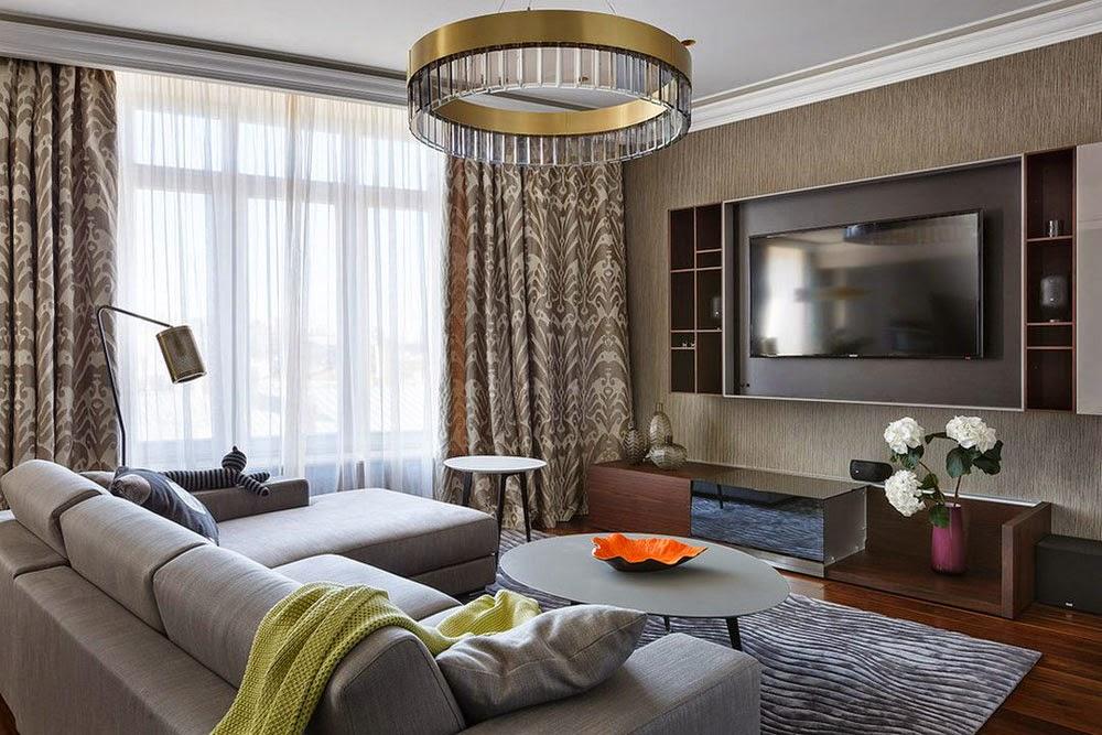 Dise os de salas o living room para casas modernas for Disenos de salas modernas